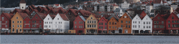 The old Hanseatic town of Bryggen.
