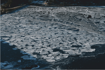 One of the many frozen lakes.