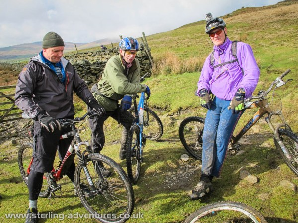 Richard, Steve, and Pete take a break before the final big descent back to Staveley