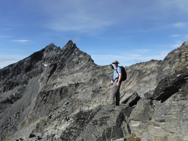 Adrian at the Start of the Remarkables Traverse