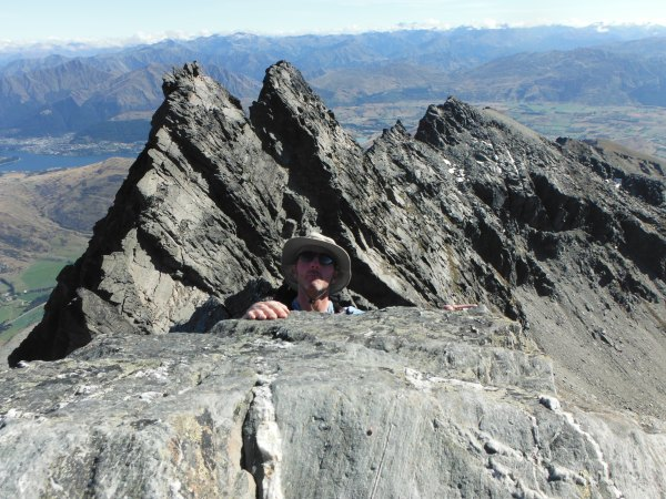 Arriving on the summit of Single Cone