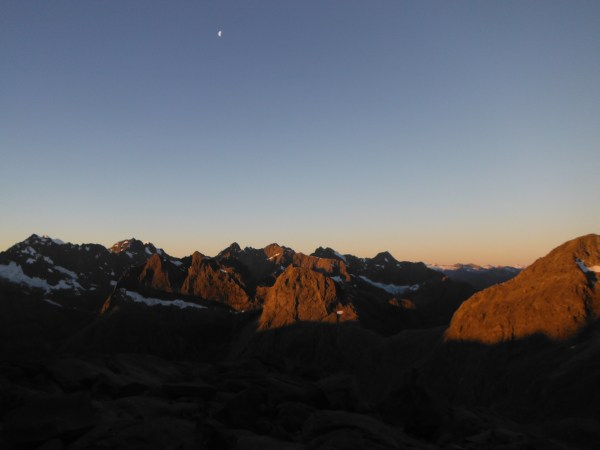 Sunset from the Traverse Pass