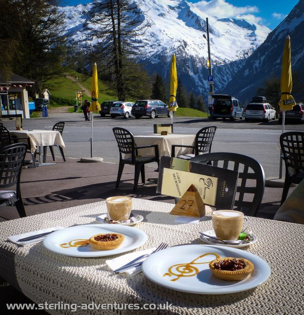 A reward of coffee and cake at Col De La Forclaz.