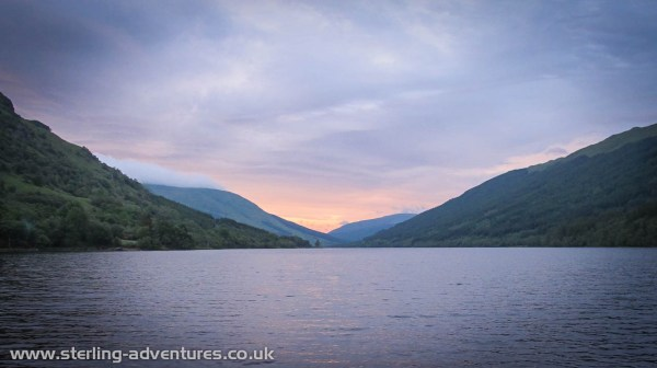 Not a bad view from the campsite at the westerly end of Loch Voil