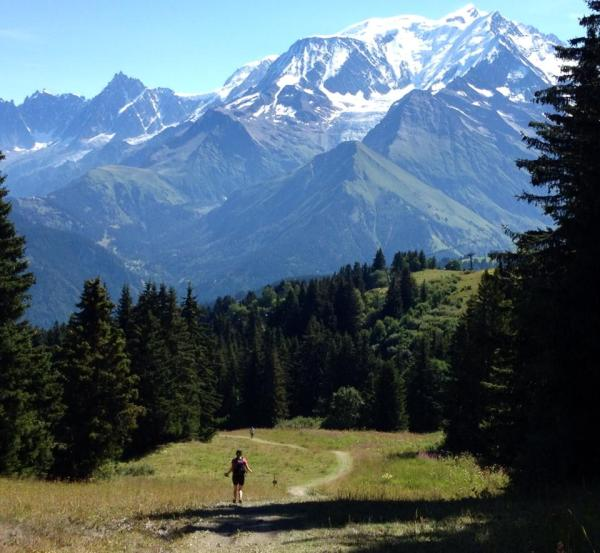 On the run from Megeve back to St. Gervais