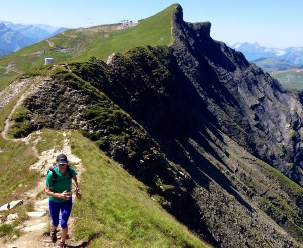 On the ridge to the top of Mont Joly