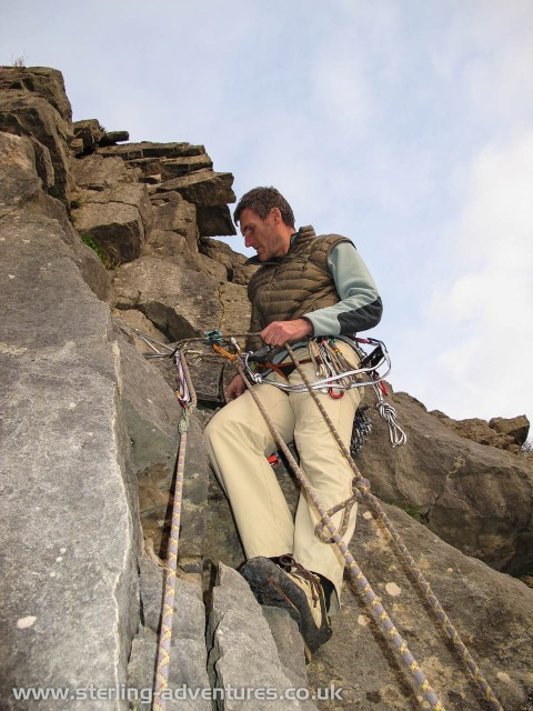 Setting up for a counterbalance abseil