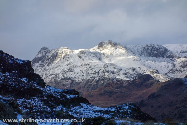 The view across to Langdale from Birk Fell