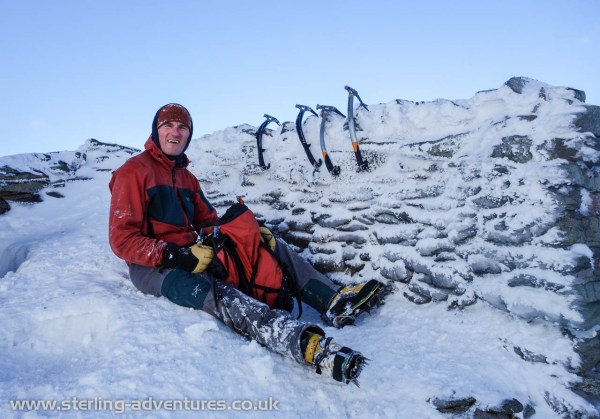 We had our lunch in the cross-shelter near the summit of Helvellyn