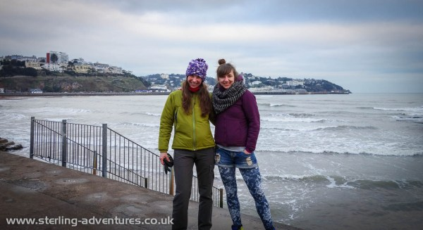 Laetitia and Kasia at the seafront in Torquay