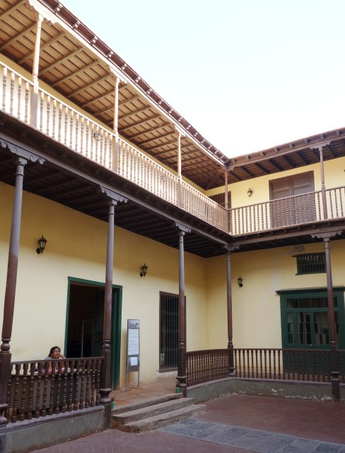 The central courtyard of La Casa de la Logia Masónica