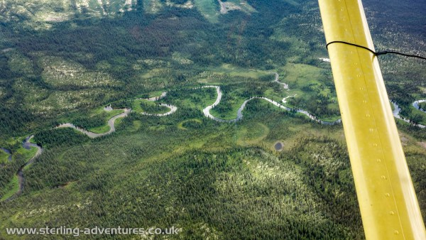 There's an awful lot of water in the Yukon, and that means there's an awful lot of green, trees, and rivers, many of which have crazy meanders!