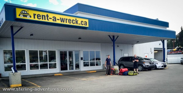 After the second flying leg of our journey from Vancouver to Whitehorse we picked up a cheap rental-car...