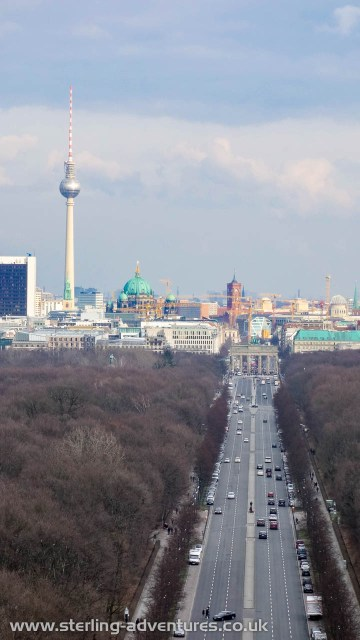 The view from the Berlin Victory Column towards down town Berlin