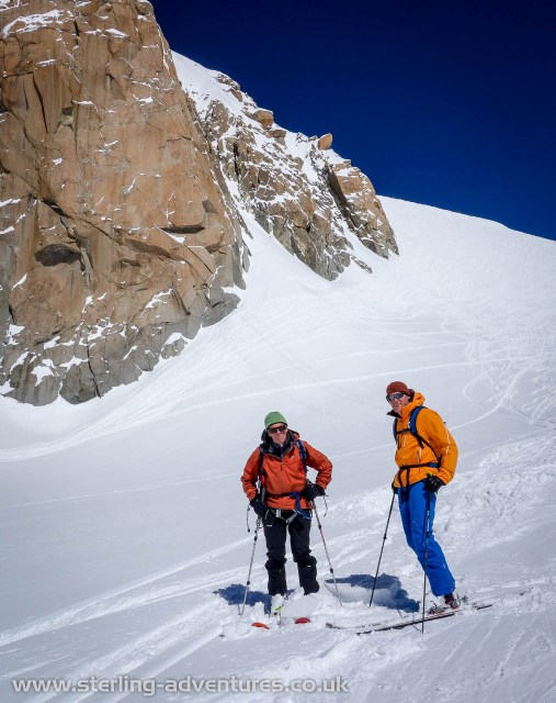 The next day there was still plenty of powder to enjoy a descent of the Valleé Blanche with mountain legend Gus Morton