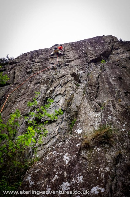Tackling the steep upper section of Zoar