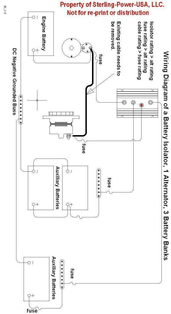 sterling power 130amp 3 bank battery isolator