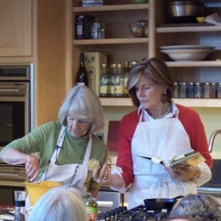 Bronwyn is in the kitchen cooking with her stepmother Judith Jones