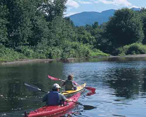 Kayak into Mount Mansfield