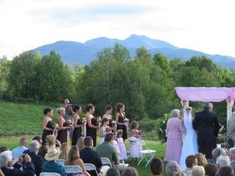 log cabin resort wedding