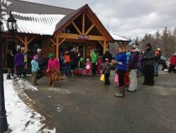 Children and parents getting ready for the 3rd annual egg hunt