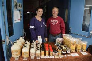 Sugar-makers selling their goods at Vermont maple festival