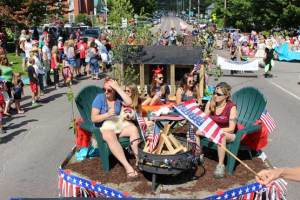 4th of July parade in Jeffersonville Vermont