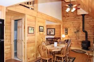 living area in the wilderness cbin