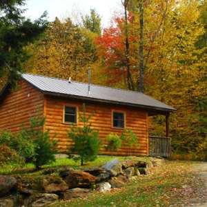 sterling ridge cabin in foliage