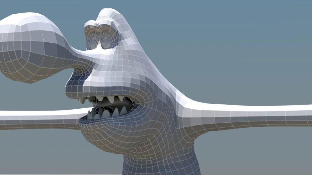 Monster sculpt head
