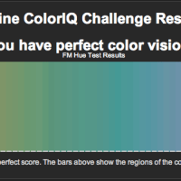 perfect colour vision