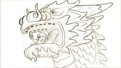 Dragon story plate