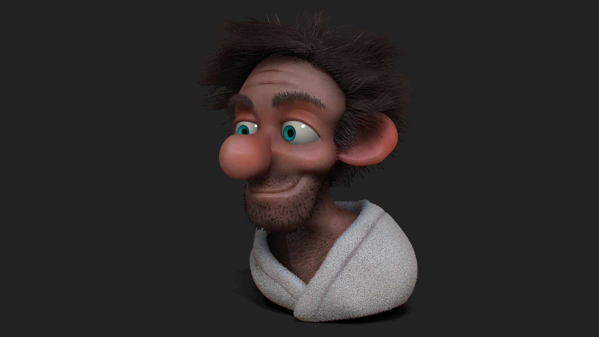 Scruffy Looking Zbrush Fibermesh Sculpt