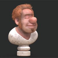 Irish man ZBrush hair test