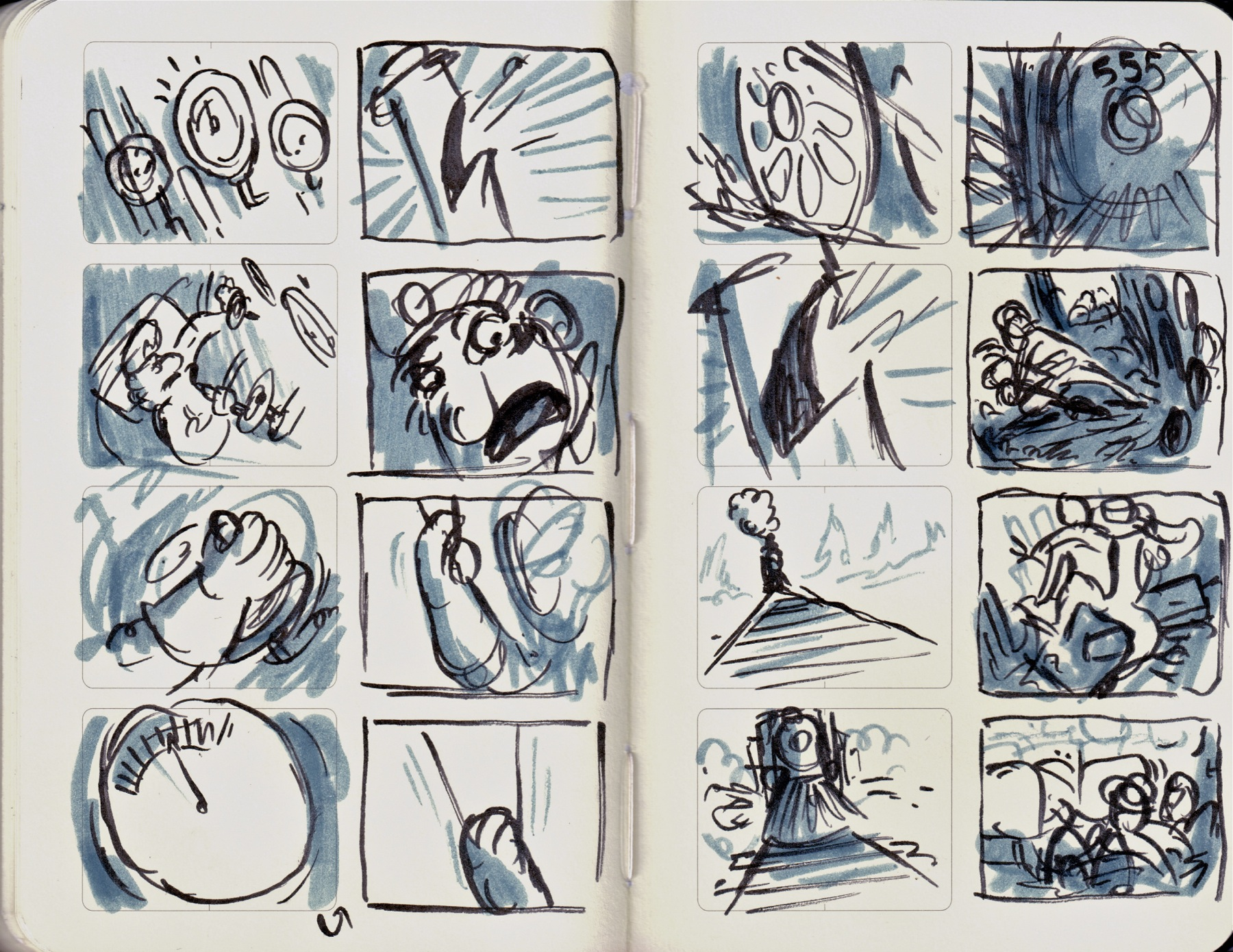 train storyboards