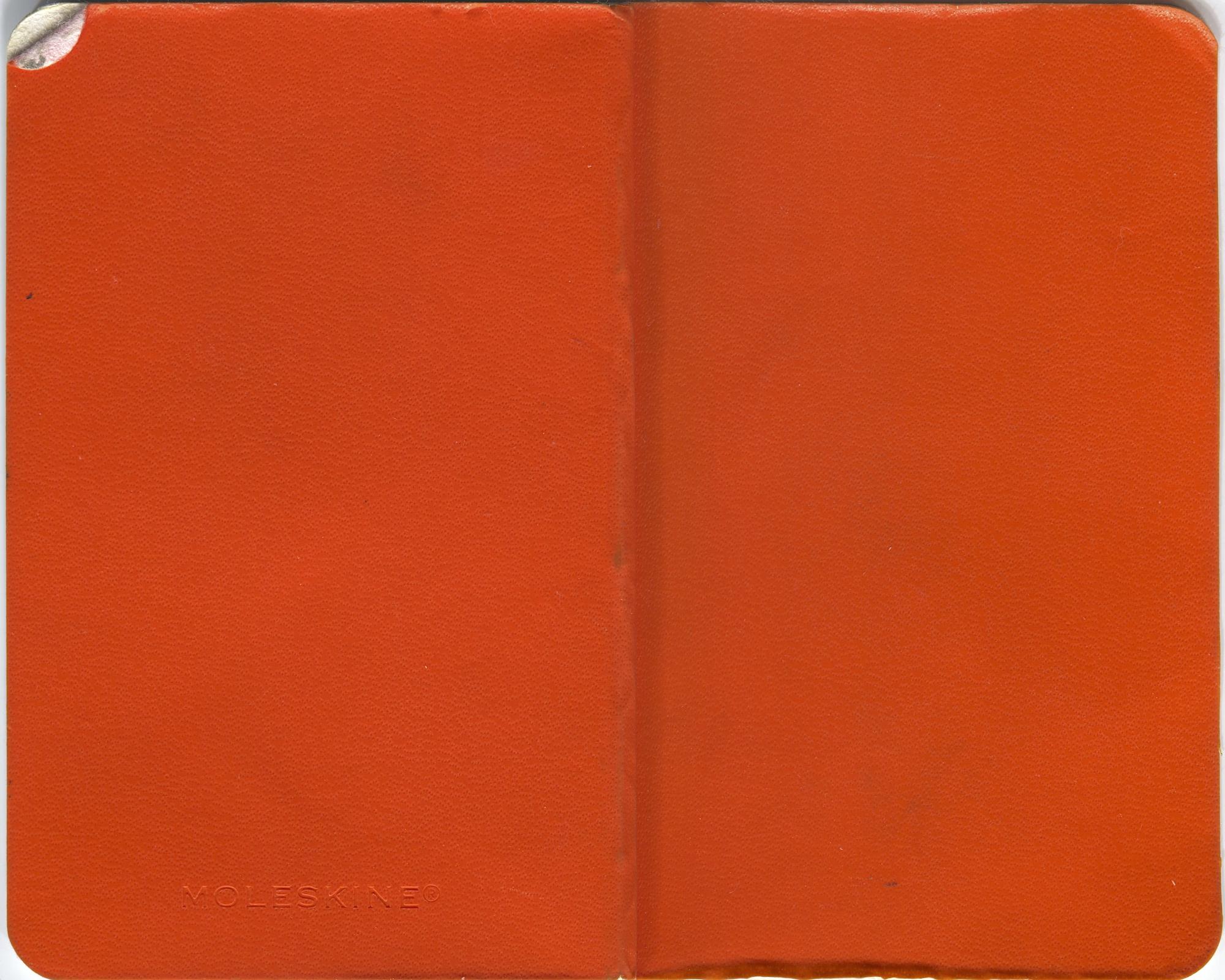 orange sketchbook