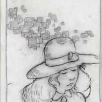 woman with squares