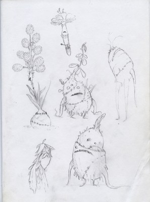 plant creature drawing