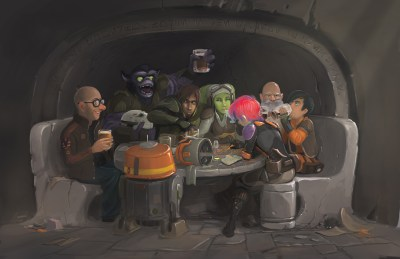 Star Wars Rebels crew painting