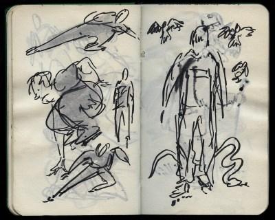 rollerblading drawing