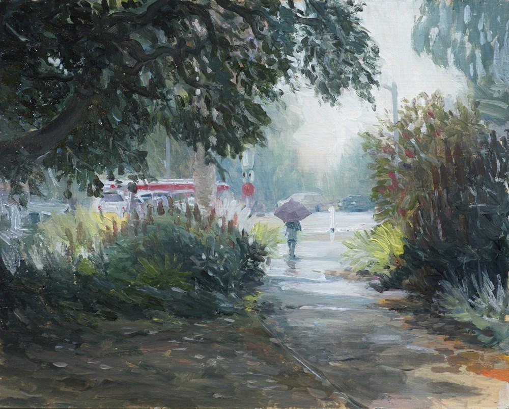 rain day painting