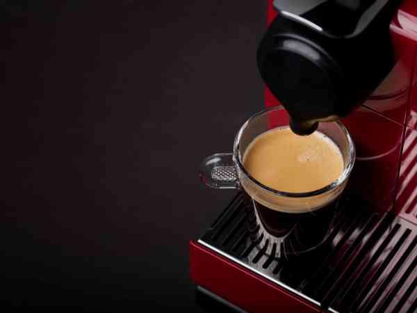 Cup of freshly brewed coffee
