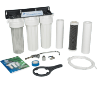 3 stage under-counter water filter, made of NSF and WRAS certified components