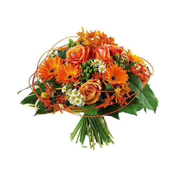 Bouquet Orange Stessy Fleurs