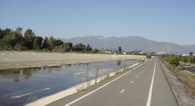 canal alongside road
