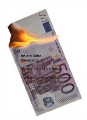 Steuern zahlen ist wie Geld verbrennen