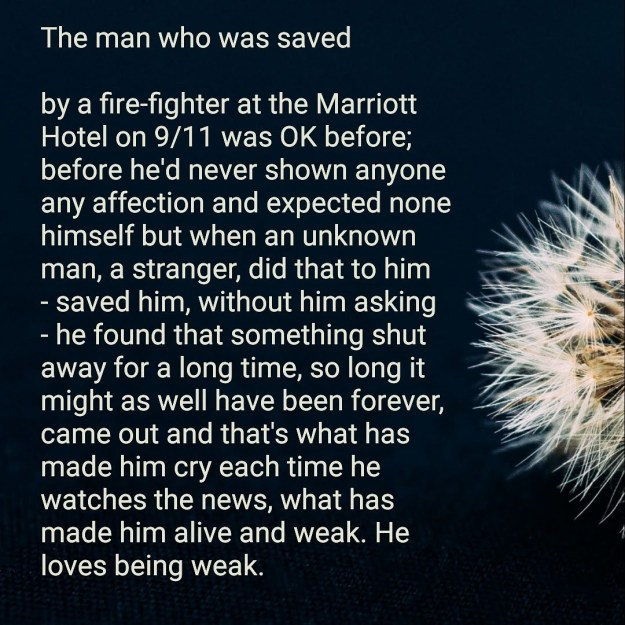 The man who was saved: poem
