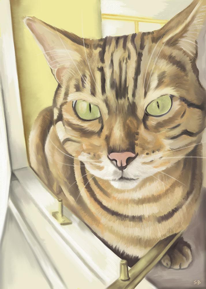 freyja-cat-digital-painting-steve-beadle-art