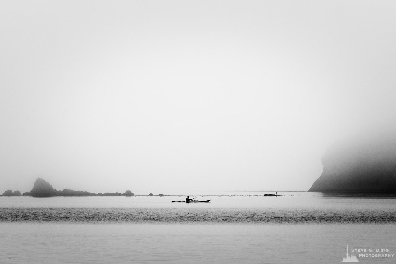 Lone Kayaker, Bowman Bay, Deception Pass State Park, Washington, 2016