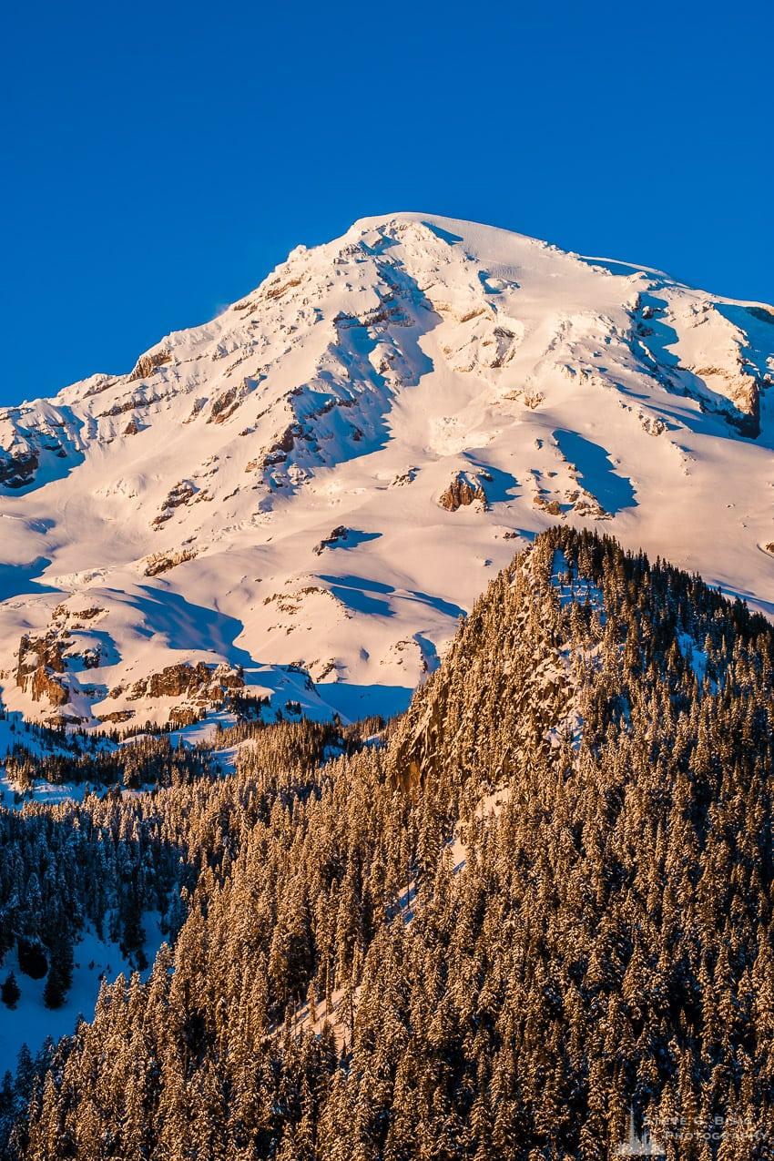 Alpine Winter Views, Mount Rainier, Washington, 2017